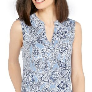 NWT! New Directions XL Sleeveless  Henley Top